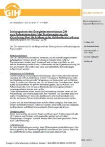 GIH-Stellungnahme zur Änderung der Heizkostenverordnung