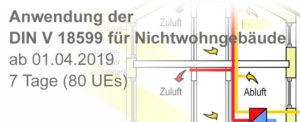 Anwendung der DIN V 18599 für Nichtwohngebäude
