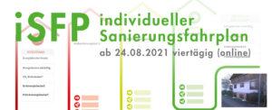 iSFP – Sanierungsfahrplan, viertägige Online-Schulung ab 24.08.2021