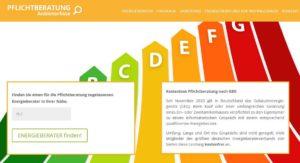 Gebäudeenergiegesetz: Neues Portal weist den Weg zur kostenlosen Pflichtberatung