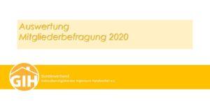 GIH-Mitgliederbefragung 2020
