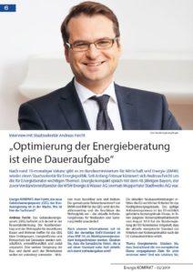 EnergieKOMPAKT 02/19 erscheint in Kürze
