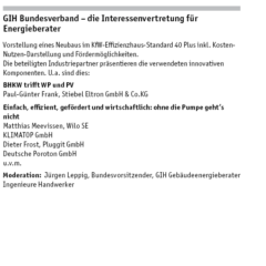 Vortragsprogramm GIH bei Berliner Energietage 2017